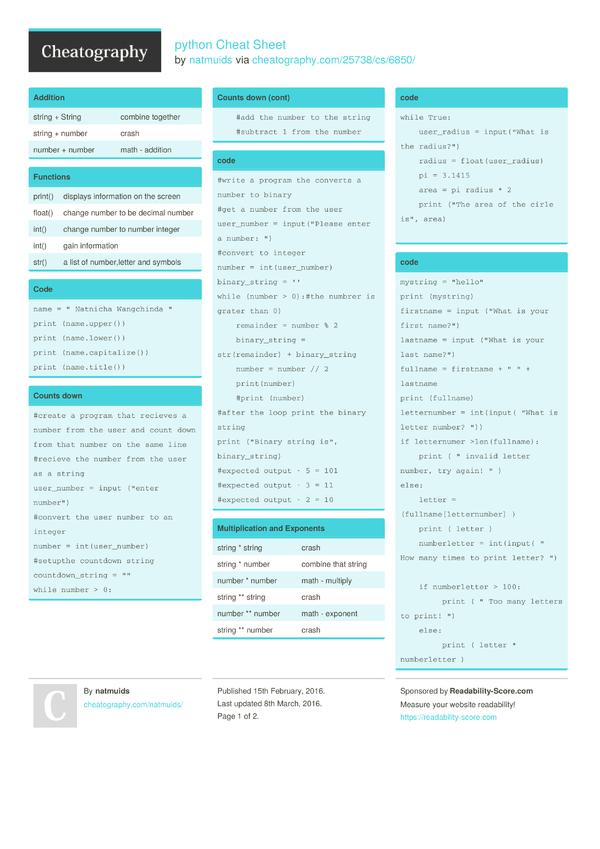 python regex cheat sheet pdf