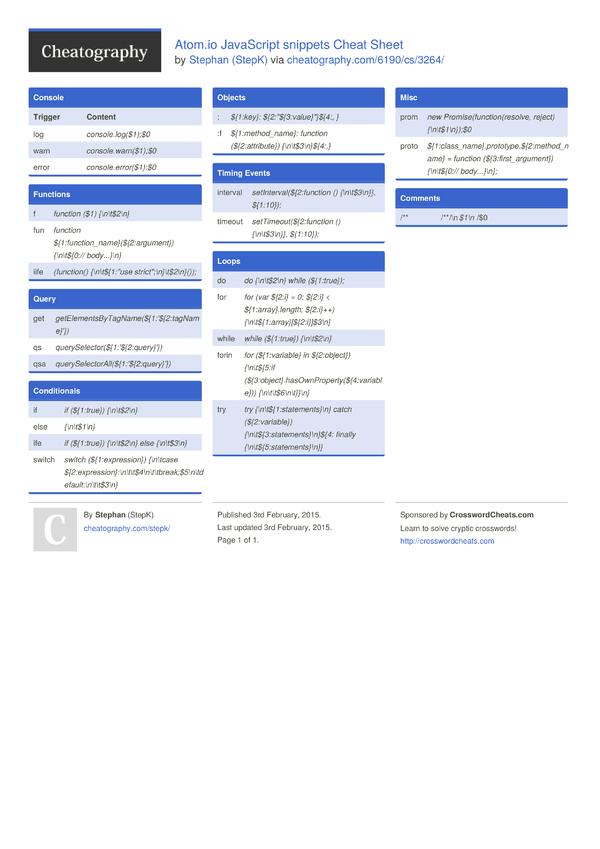 javascript dom cheat sheet pdf