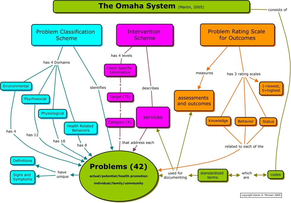 The Omaha System Cheat Sheet By Davidpol