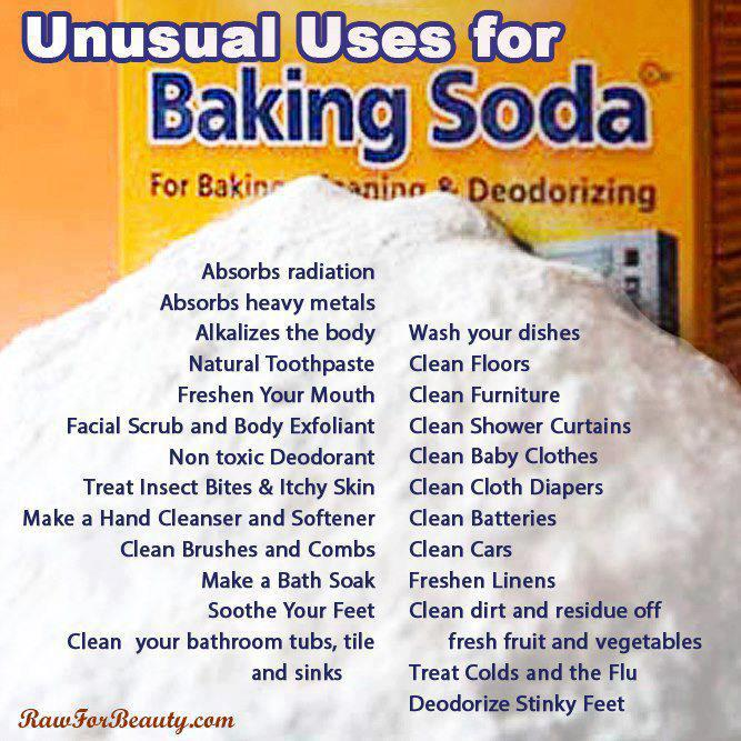 34 Uses For Baking Soda Cheat Sheet By Davidpol Download