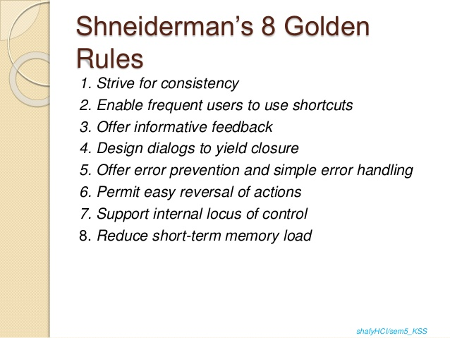 Shneiderman 8 Golden Rules Of Interface Design Cheat Sheet By Deleted Download Free From Cheatography Cheatography Com Cheat Sheets For Every Occasion