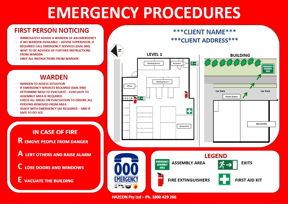 Fire safety evacuation plan review cheat sheet by davidpol for Occupant emergency plan template