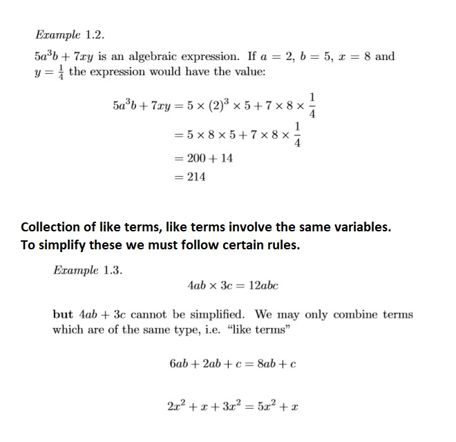 Math 1002 Lecture One Cheat Sheet By Foxxer Download Free From. Collection Of Like Terms. Worksheet. Collecting Like Terms Worksheet Year 7 At Clickcart.co